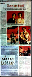 Noori are back!- THE NEWS INSTEP TODAY Article